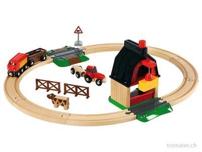 BRIO Bauernhof Bahn Set