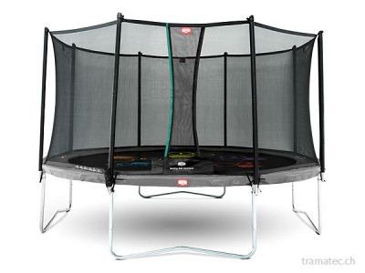 BERG Trampolin Favorit Regular 430 Grey Levels + Sicherheitsnetz Comfort