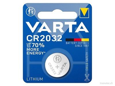 Batterie Varta Knopfzellen CR 2032, 1 Stück